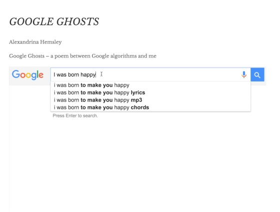 Google Ghosts