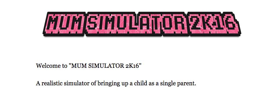 Mum Simulator 2k16