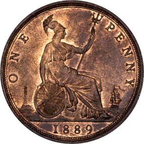 one penny piece